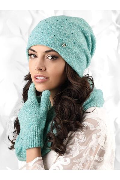NOVARA к-т2 шапка+снуд+перчатки женские