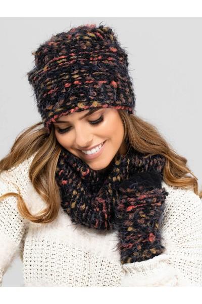CARINI к-т2 шапка+снуд+перчатки женские