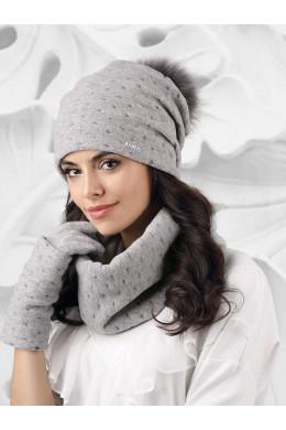 FIUGGI к-т2 шапка+снуд+перчатки женские