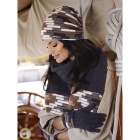 ALBANY к-т шапка+шарф женские